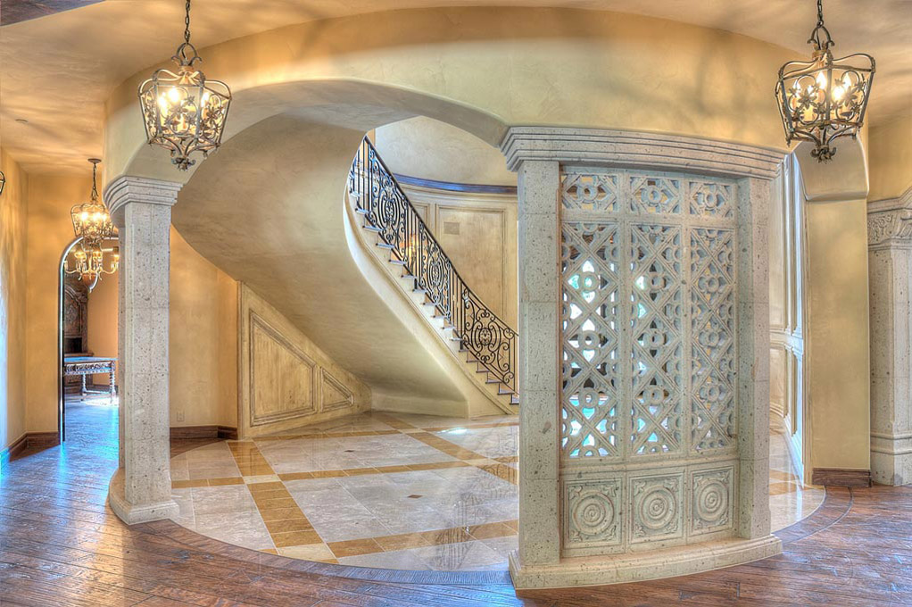 Give your home a look of luxury and majestic beauty with this custom designed screen wall, hand carved delicately in Cantera stone.