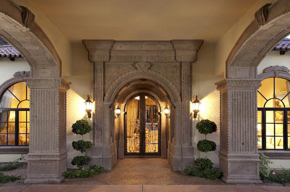 Get your beautifully home accentuated with this stunning Cantera Stone entrance. Make the entrance to your home a memorable one with this gorgeous doorway made from Tobacco Cantera stone. This custom built entrance can be made to fit your requirements.