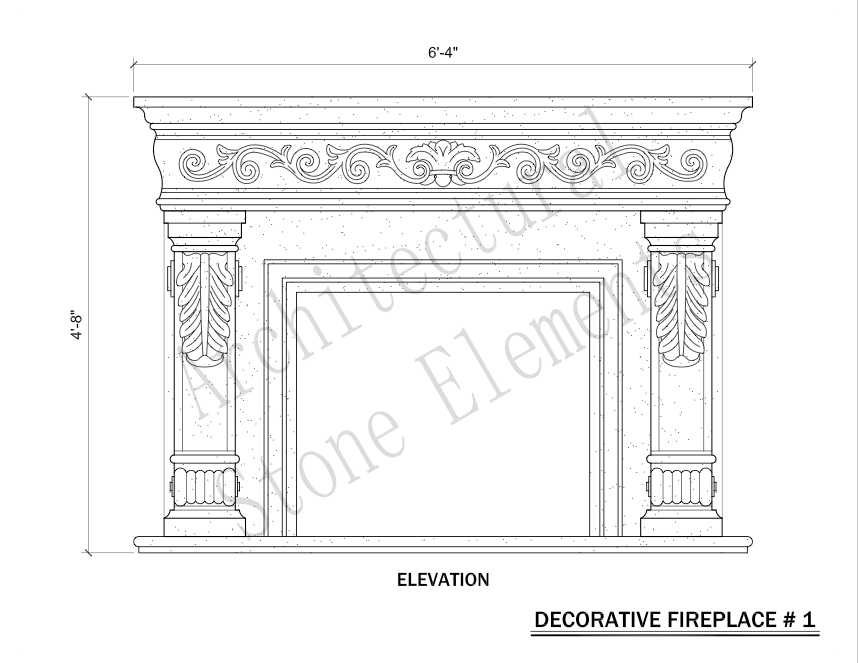 Architectural Stone Elements - Fireplaces 1