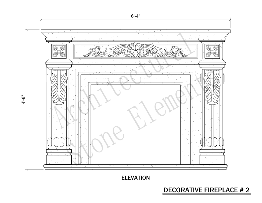 Architectural Stone Elements - Fireplaces 2