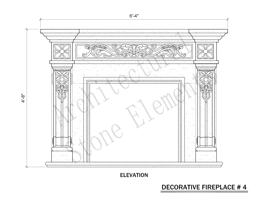 Architectural Stone Elements - Fireplaces 4