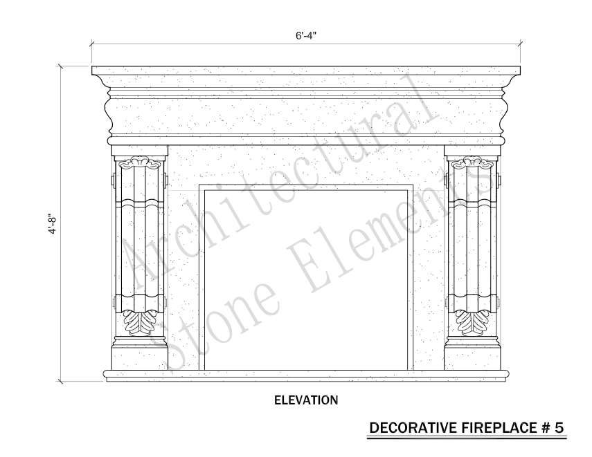 Architectural Stone Elements - Fireplaces 5