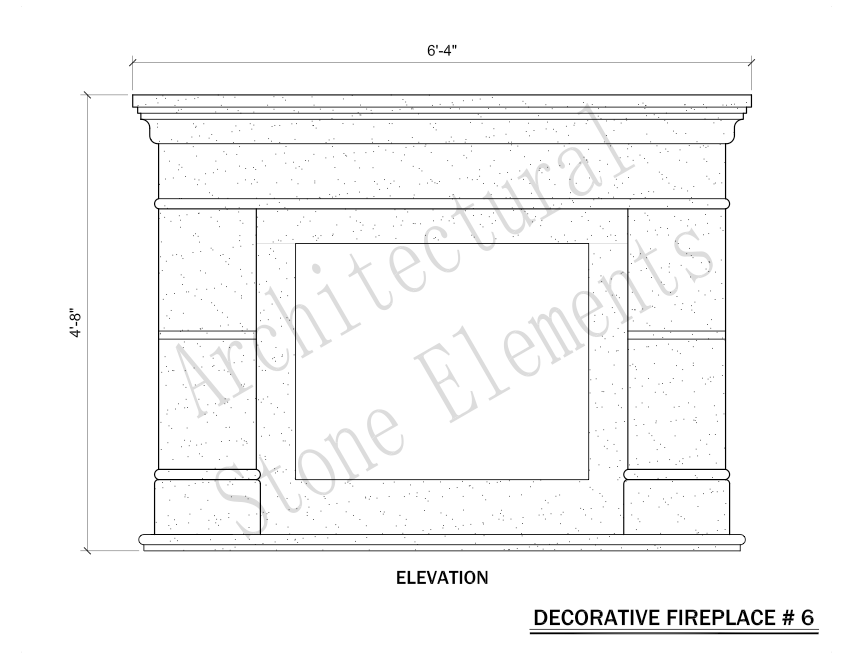 Architectural Stone Elements - Fireplaces 6