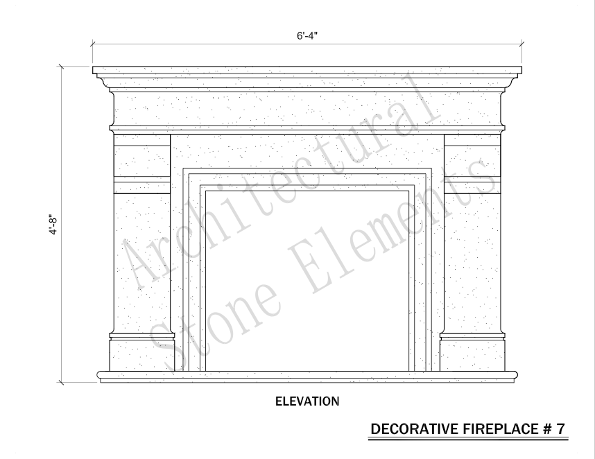Architectural Stone Elements - Fireplaces 7