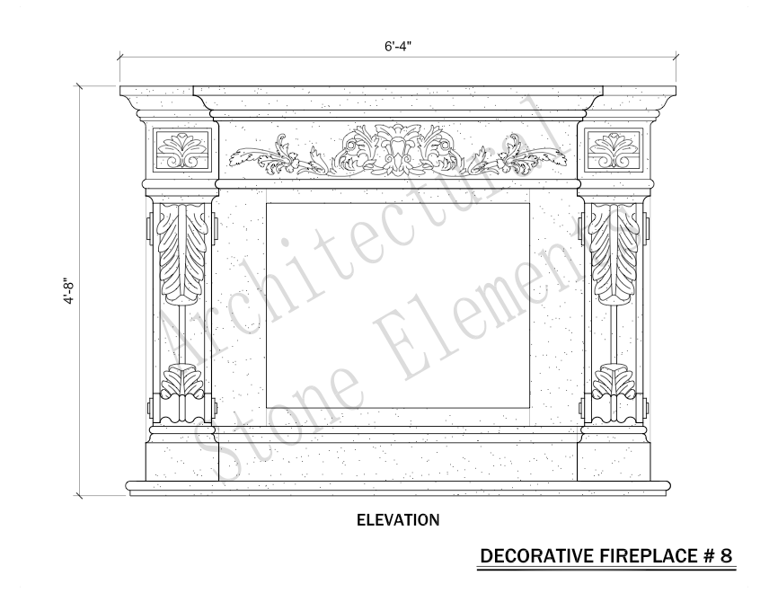 Architectural Stone Elements - Fireplaces 8