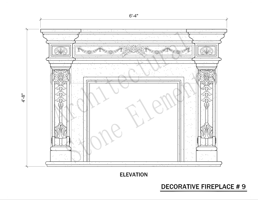 Architectural Stone Elements - Fireplaces 9