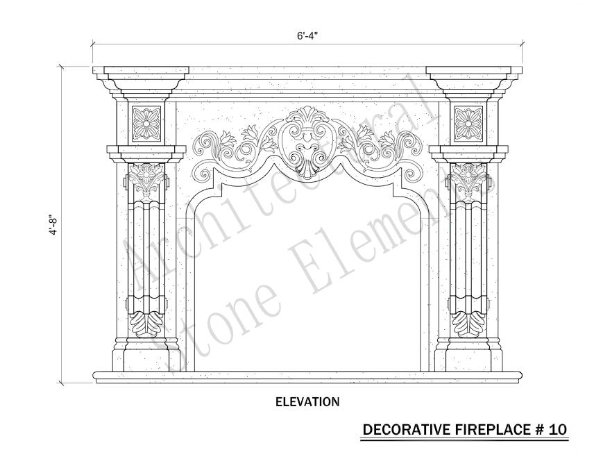 Architectural Stone Elements - Fireplaces 10