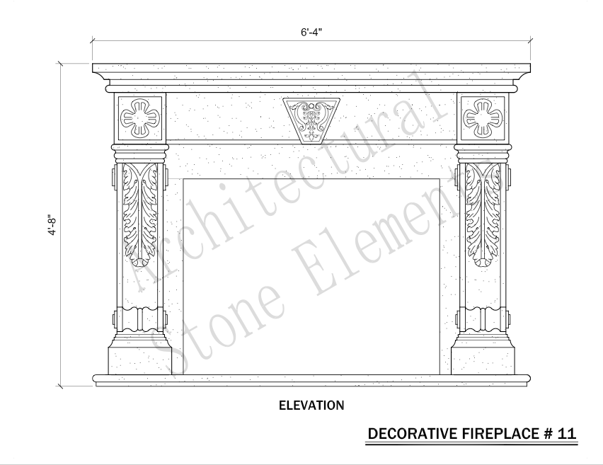 Architectural Stone Elements - Fireplaces 11