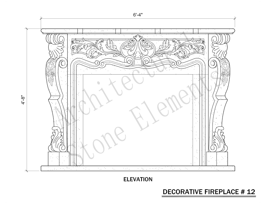 Architectural Stone Elements - Fireplaces 12