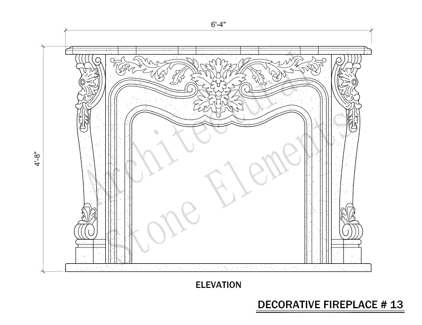 Architectural Stone Elements - Fireplaces 13