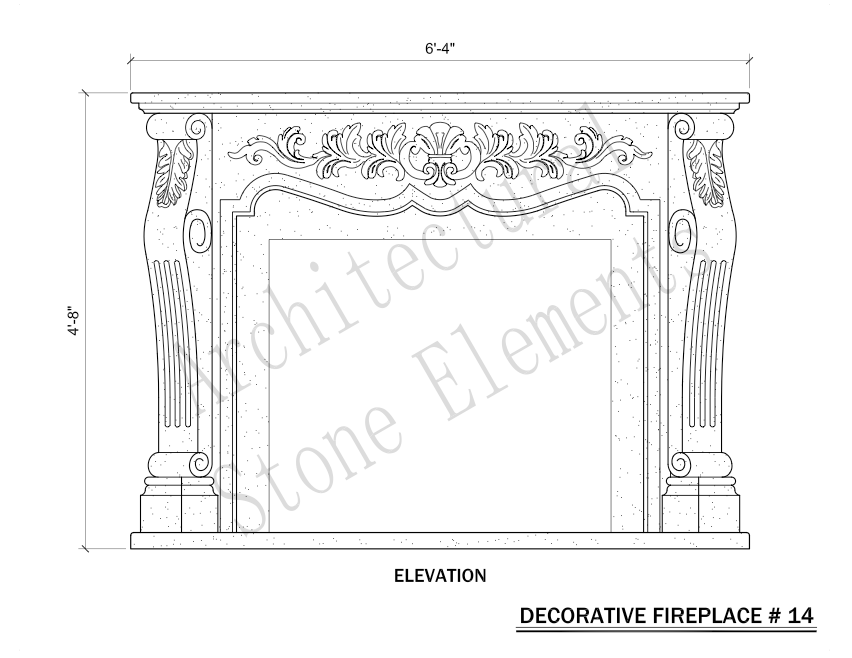 Architectural Stone Elements - Fireplaces 14