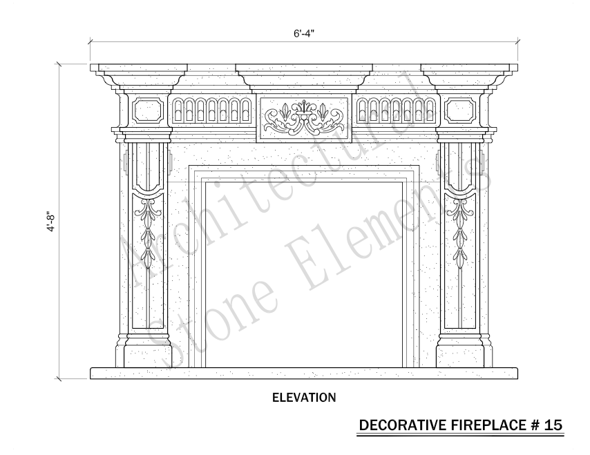 Architectural Stone Elements - Fireplaces 15