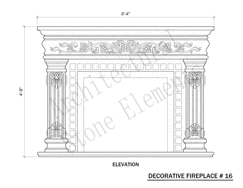 Architectural Stone Elements - Fireplaces 16