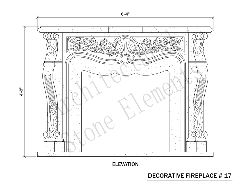 Architectural Stone Elements - Fireplaces 17
