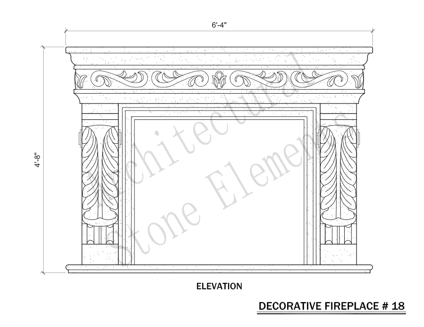 Architectural Stone Elements - Fireplaces 18