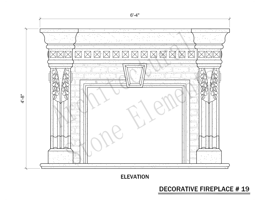 Architectural Stone Elements - Fireplaces 19