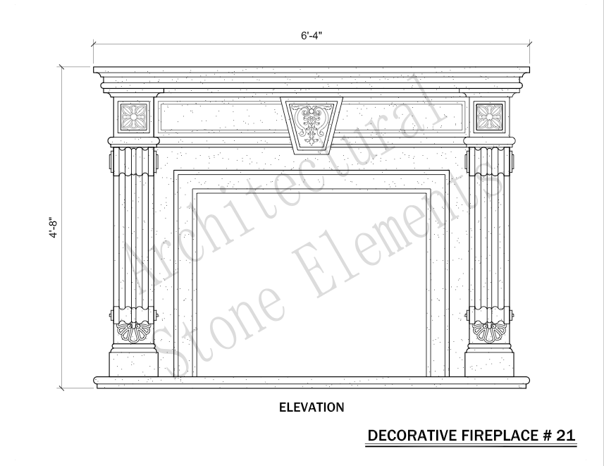 Architectural Stone Elements - Fireplaces 21