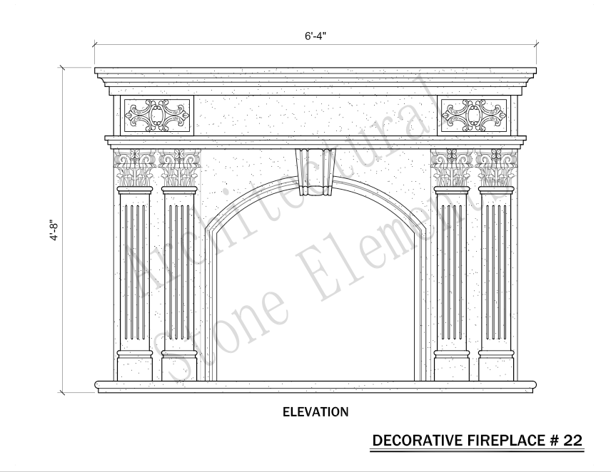 Architectural Stone Elements - Fireplaces 22