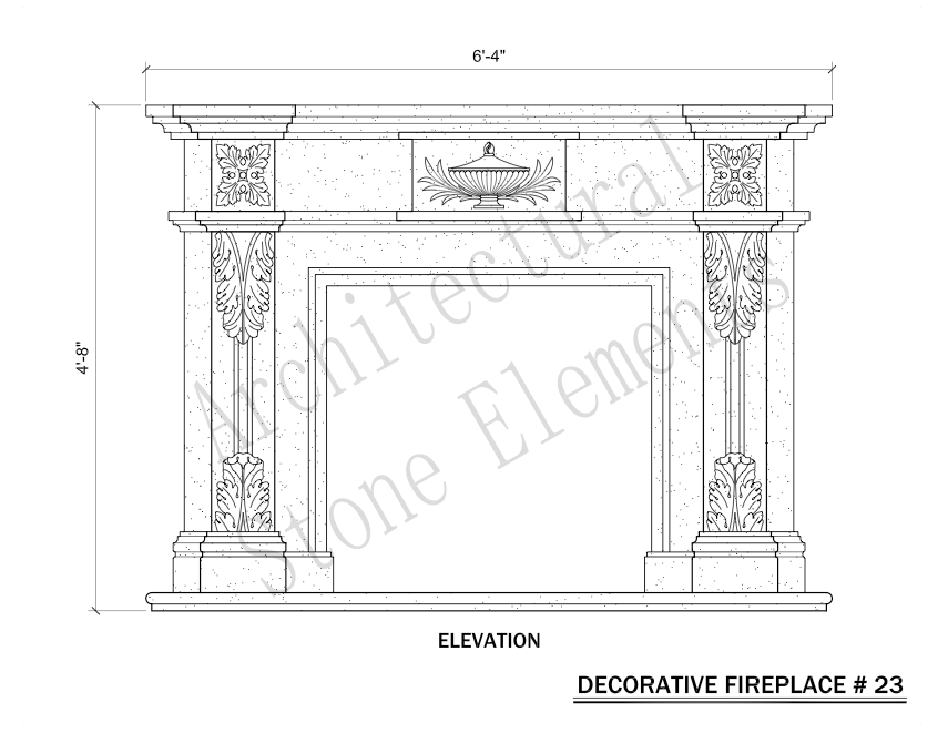 Architectural Stone Elements - Fireplaces 23
