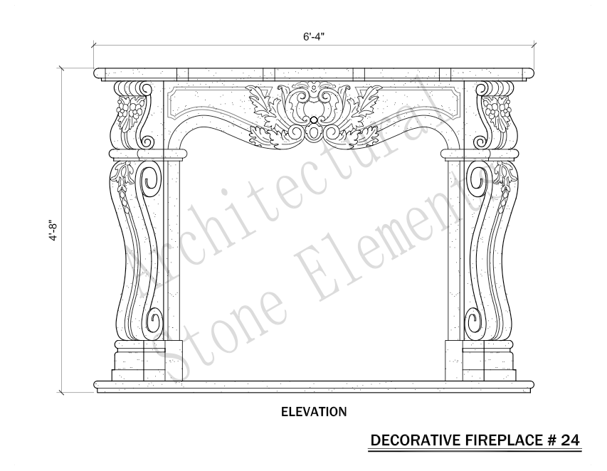 Architectural Stone Elements - Fireplaces 24