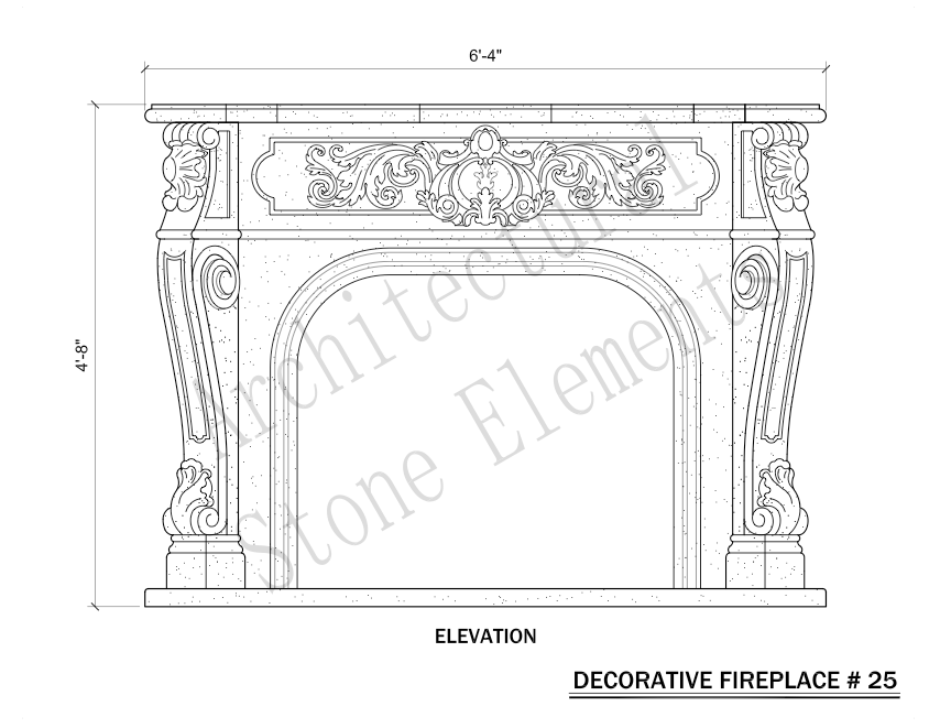 Architectural Stone Elements - Fireplaces 25