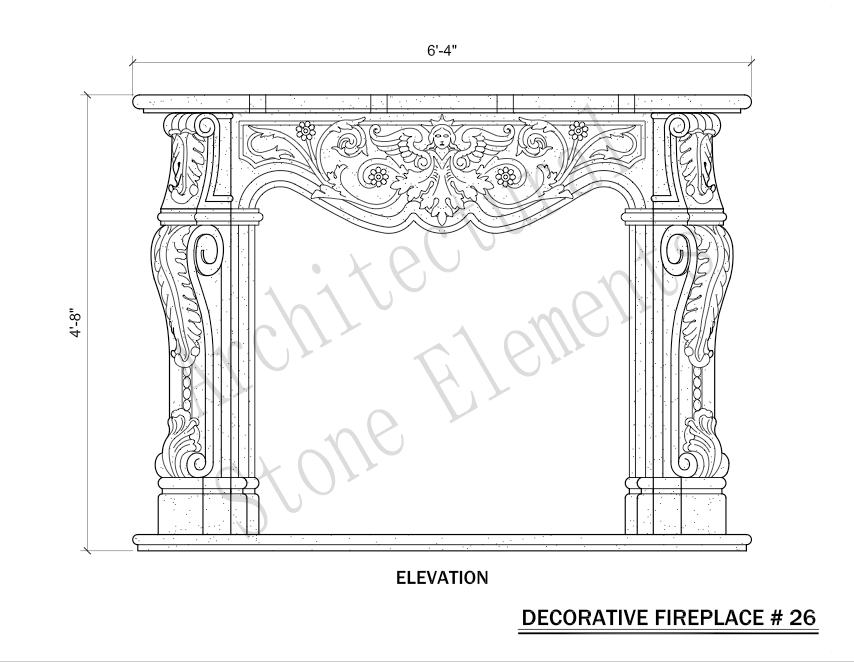 Architectural Stone Elements - Fireplaces 26
