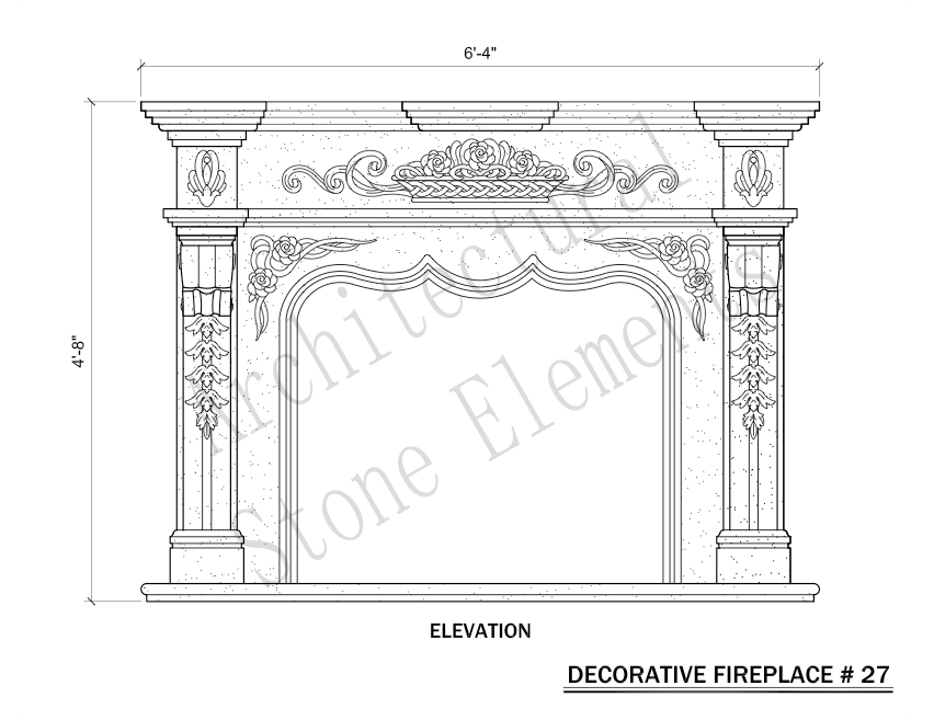 Architectural Stone Elements - Fireplaces 27