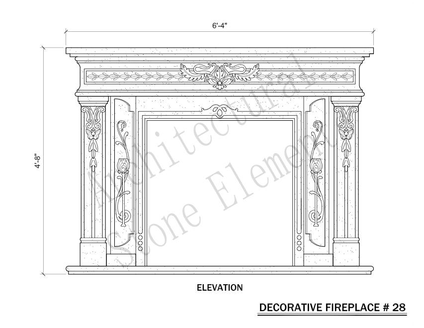 Architectural Stone Elements - Fireplaces 28