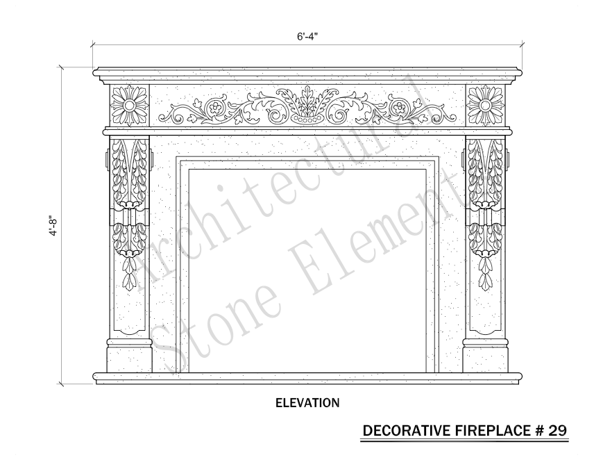 Architectural Stone Elements - Fireplaces 29