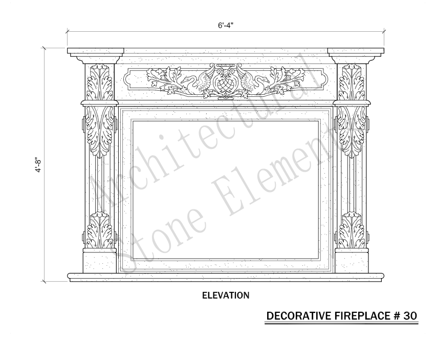 Architectural Stone Elements - Fireplaces 30