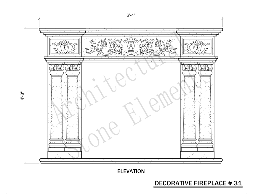 Architectural Stone Elements - Fireplaces 31