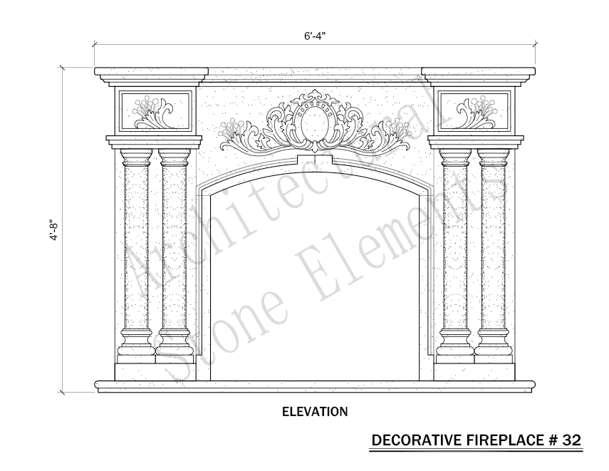 Architectural Stone Elements - Fireplaces 32