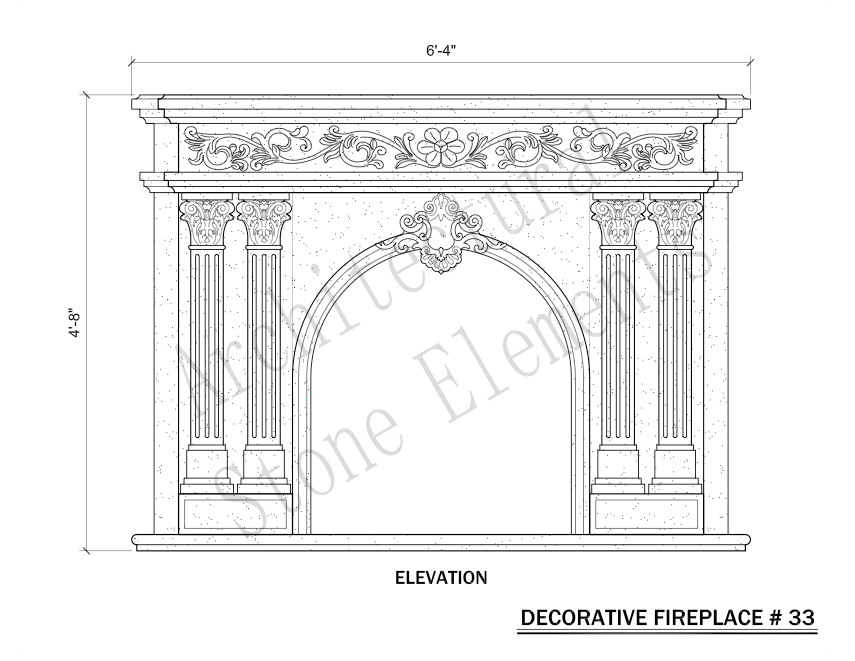 Architectural Stone Elements - Fireplaces 33