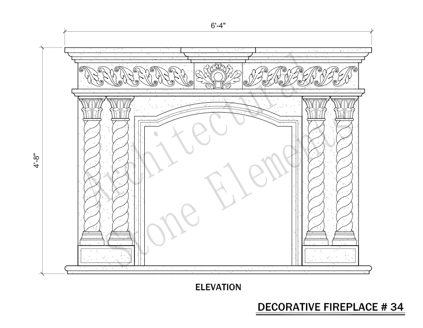 Architectural Stone Elements - Fireplaces 34