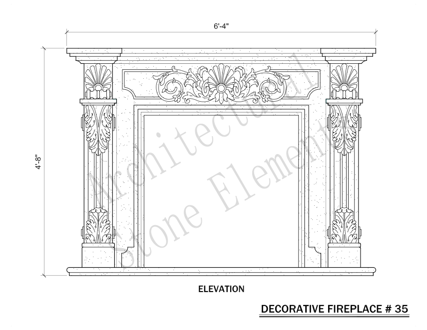 Architectural Stone Elements - Fireplaces 35