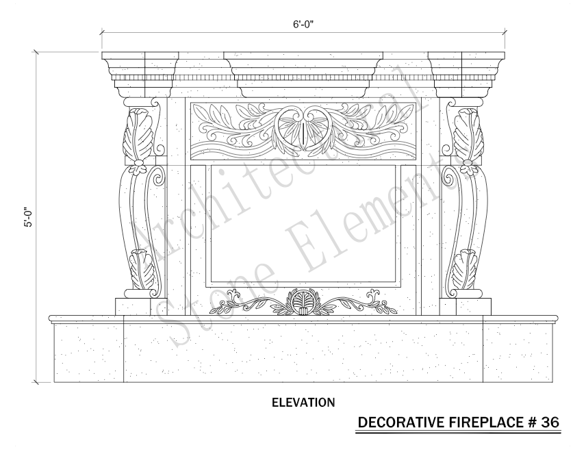 Architectural Stone Elements - Fireplaces 36