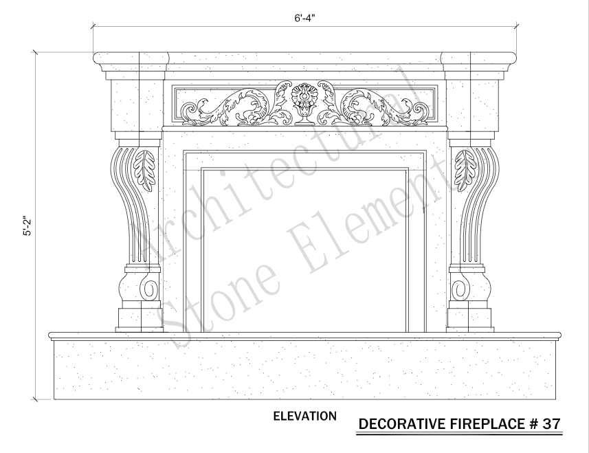 Architectural Stone Elements - Fireplaces 37