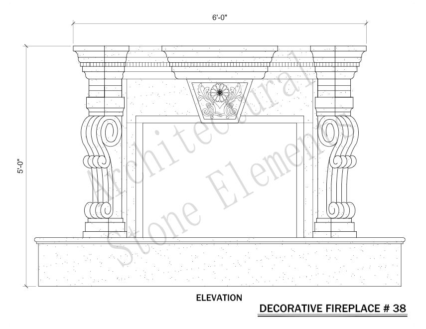 Architectural Stone Elements - Fireplaces 38