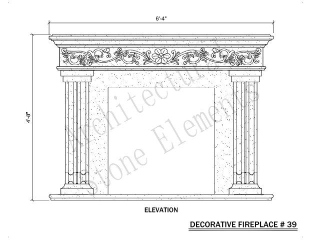 Architectural Stone Elements - Fireplaces 39