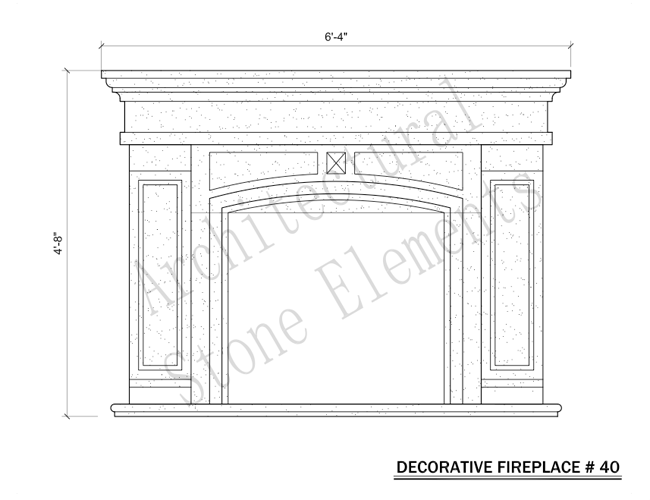 Architectural Stone Elements - Fireplaces 40