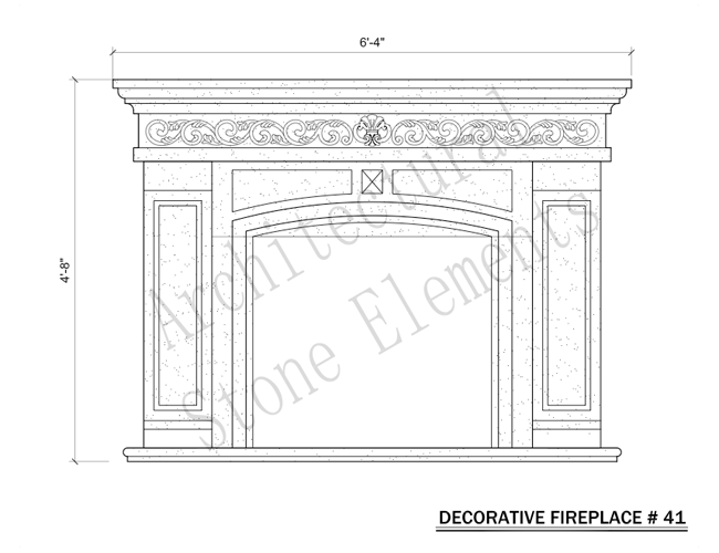 Architectural Stone Elements - Fireplaces 41