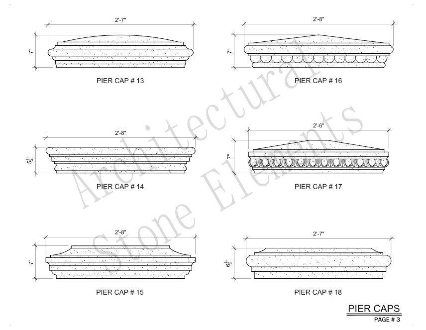 Architectural Stone Elements - Pier and Wall Caps 3
