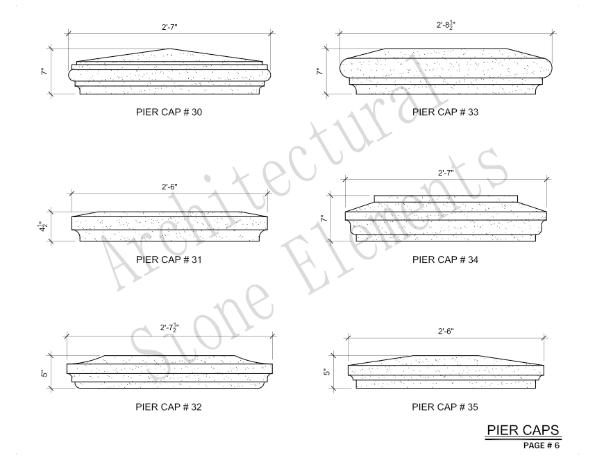 Architectural Stone Elements - Pier and Wall Caps 6