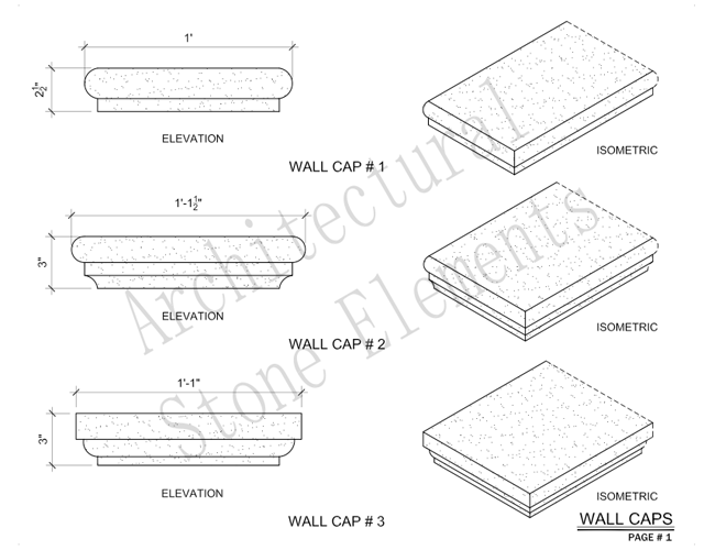 Architectural Stone Elements - Pier and Wall Caps 7