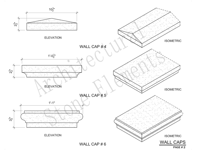 Architectural Stone Elements - Pier and Wall Caps 8
