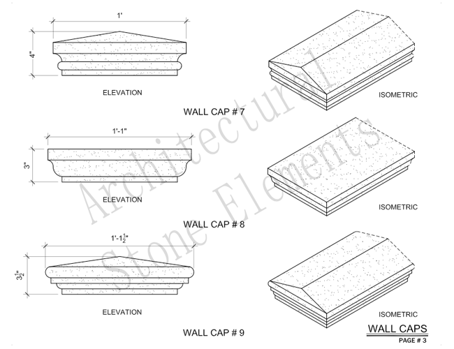 Architectural Stone Elements - Pier and Wall Caps 9