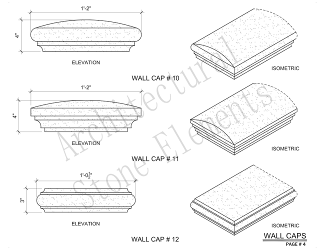 Architectural Stone Elements - Pier and Wall Caps 10