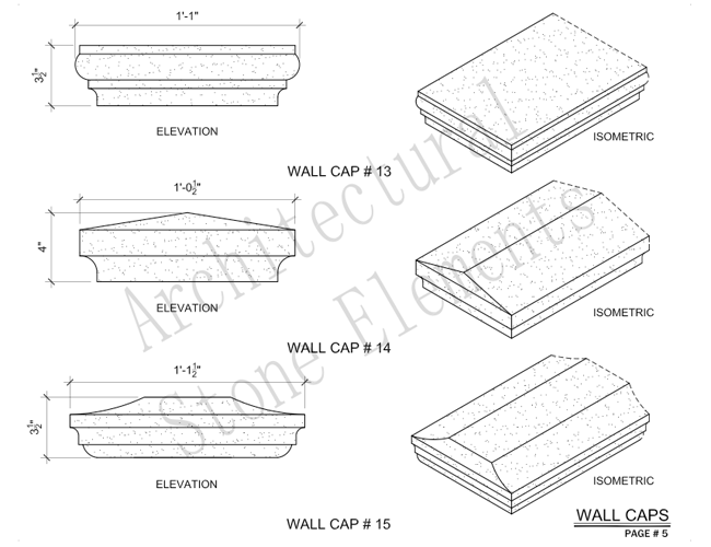 Architectural Stone Elements - Pier and Wall Caps 11