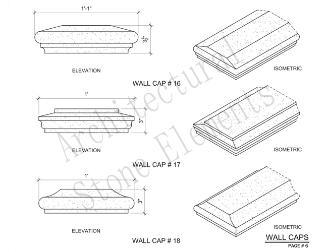 Architectural Stone Elements - Pier and Wall Caps 12