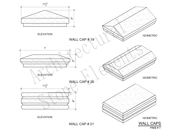 Architectural Stone Elements - Pier and Wall Caps 13